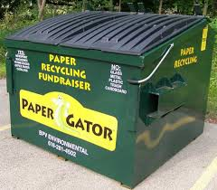 We care about our Earth!  Recycling at Pine Island..