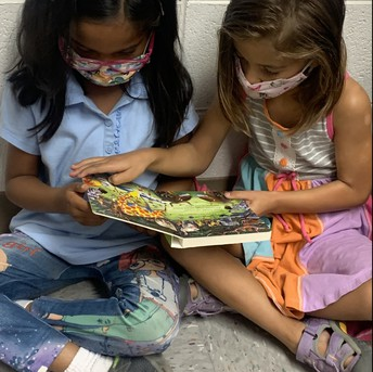 """Students are Practicing """"Read to Partner"""" - Part of Daily 5"""