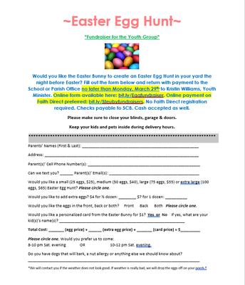 Easter Egg Hunt Fundraiser for Youth Group