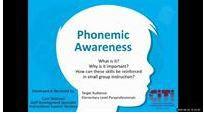 Phonemic Awareness for Paraprofessionals- Recorded Webinar