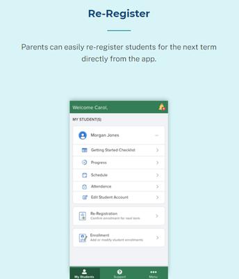 k12 Mobile App Re-registration!