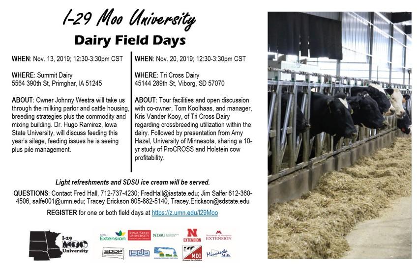 I-29 Moo University Dairy Field Days