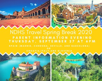 Student Travel Information Meeting on Thursday