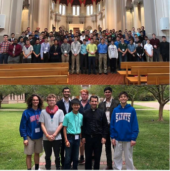 "Saints Sophomore Attends ""Come and See"" at St. Joseph Seminary"
