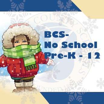 All Berkeley County Schools, PreK-12, will be closed Thursday, February 18 due to winter storm Uri.