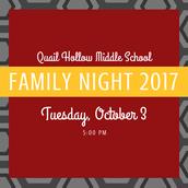 Family Night: October 3