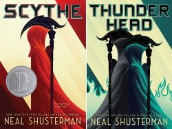 Arc of a Scythe--Neal Shusterman (first two books of a trilogy)