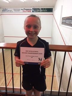 Brooke Valois BOP Primary Schools Squash Champion
