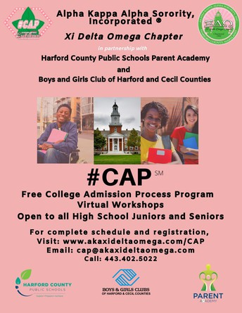 Upcoming Parent Academy Event:  College Admission Process