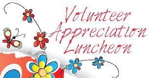 Volunteer Luncheon- April 27 11-1