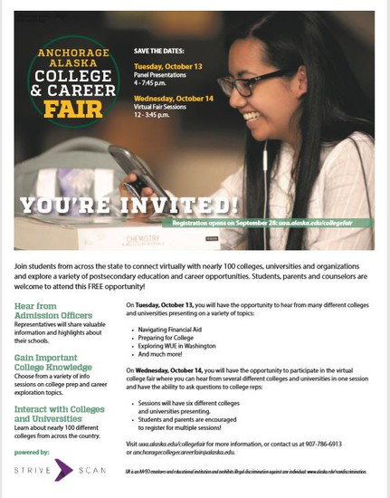 Click to Link to UAA's College & Career Fair webpage