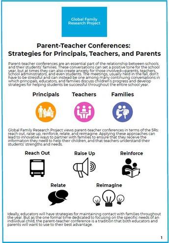 Parent-Teacher Conferences: Strategies for Principals, Teachers, and Parents