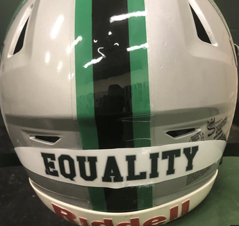 """Football team adds an """"Equity"""" decal to helmets for 2021 season"""