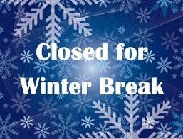No School Monday December 21 - January 1