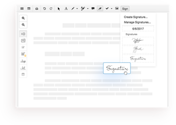 Create multiple signatures to apply signatures with a document
