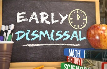 There is an EARLY DISMISSAL this FRIDAY, APRIL 30th. (NO AFTERCARE)