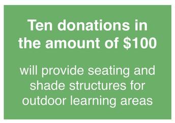 Ten $100 donations