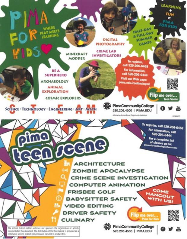 Pima for Kids. For more information go to pima.edu/continuinged.