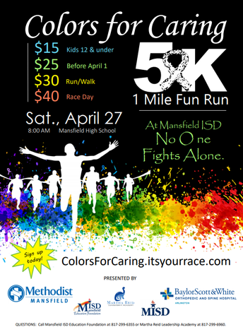 Colors for Caring 5K Saturday
