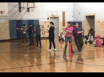 Archery in P.E. Class