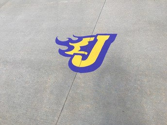 Fire J Driveway Painting