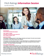 Fitch Ratings Info Session at Cornell University - Join Us!