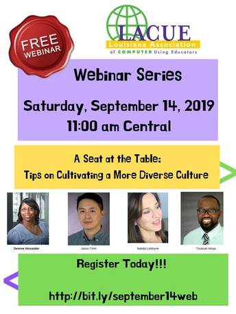 LAST CHANCE TO REGISTER FOR A Seat at the Table: Tips on Cultivating a More Diverse Culture Webinar