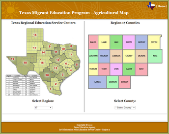 Texas MEP Agricultural Map