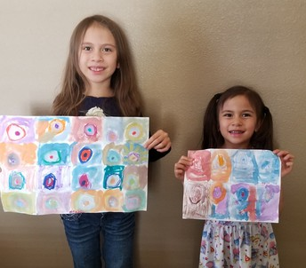 Meadow and Ruby's Math Art from Math Club