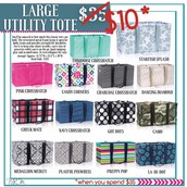 May Special- Large utility tote