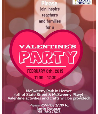 Inspire's Valentine's Party in Hemet!