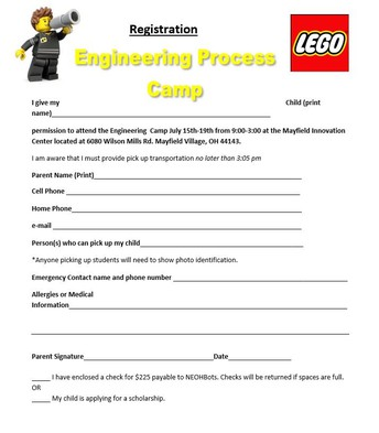 Engineering Camp Registration