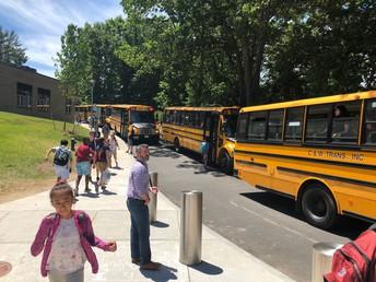 Last Day of School Buses