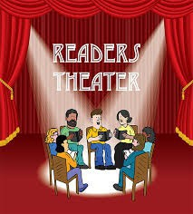 readers in a circle on stage