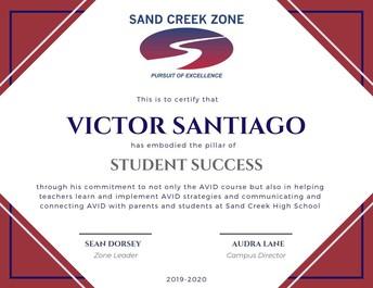 Victor Santiago, SCHS