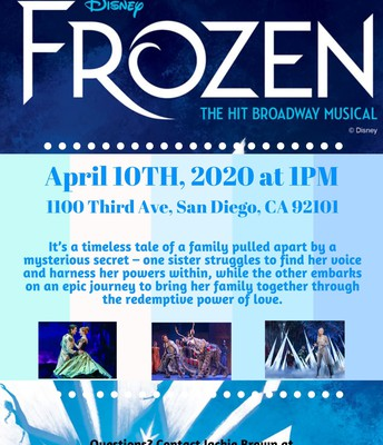 Disney's Frozen at the San Diego Civic Theatre