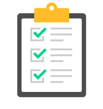 Clip art of checklist