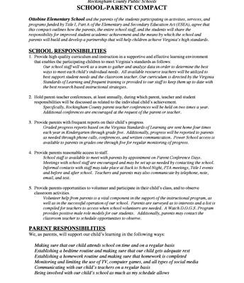 Rockingham County Public Schools SCHOOL-PARENT COMPACT