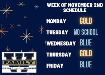 Week of November 2nd Schedule