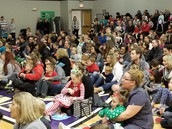 Thanks parents for coming to the Kindergartner and 1st grade sing-along!