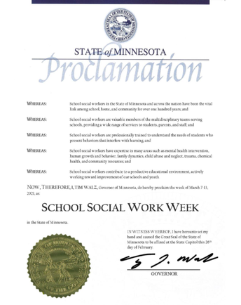 Thank You, Duluth School Social Workers