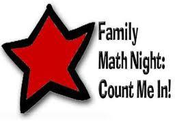 PAC Family Math Night 9/24 at 6:30pm MPR