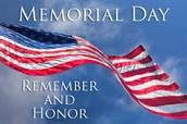 May 29 - Memorial Day