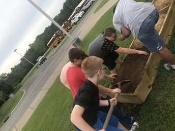 Students planted for fall vegetables