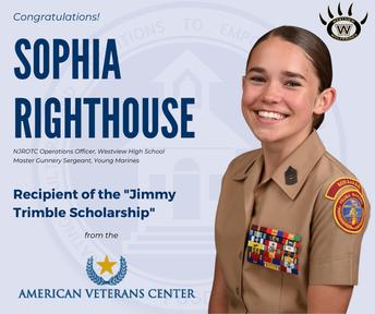Westview Senior Awarded American Veteran's Scholarship