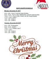 Santa Shoppe Schedule