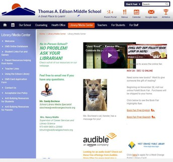 Edison Middle School LMC Website