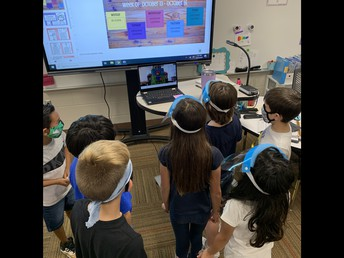 Mrs. Graham's 3rd Grade Class Interacting with our New Technology!