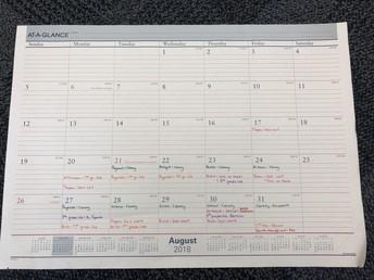 August Library Calendar