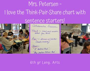 6th gr Mrs. Peterson ~ Language Arts